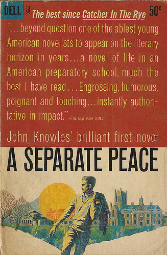 essays on the book a separate peace A separate peace will grab you and never let go in this coming-of-age story, war is seemingly everywhere, both between nations and friends the protagonist, gene.