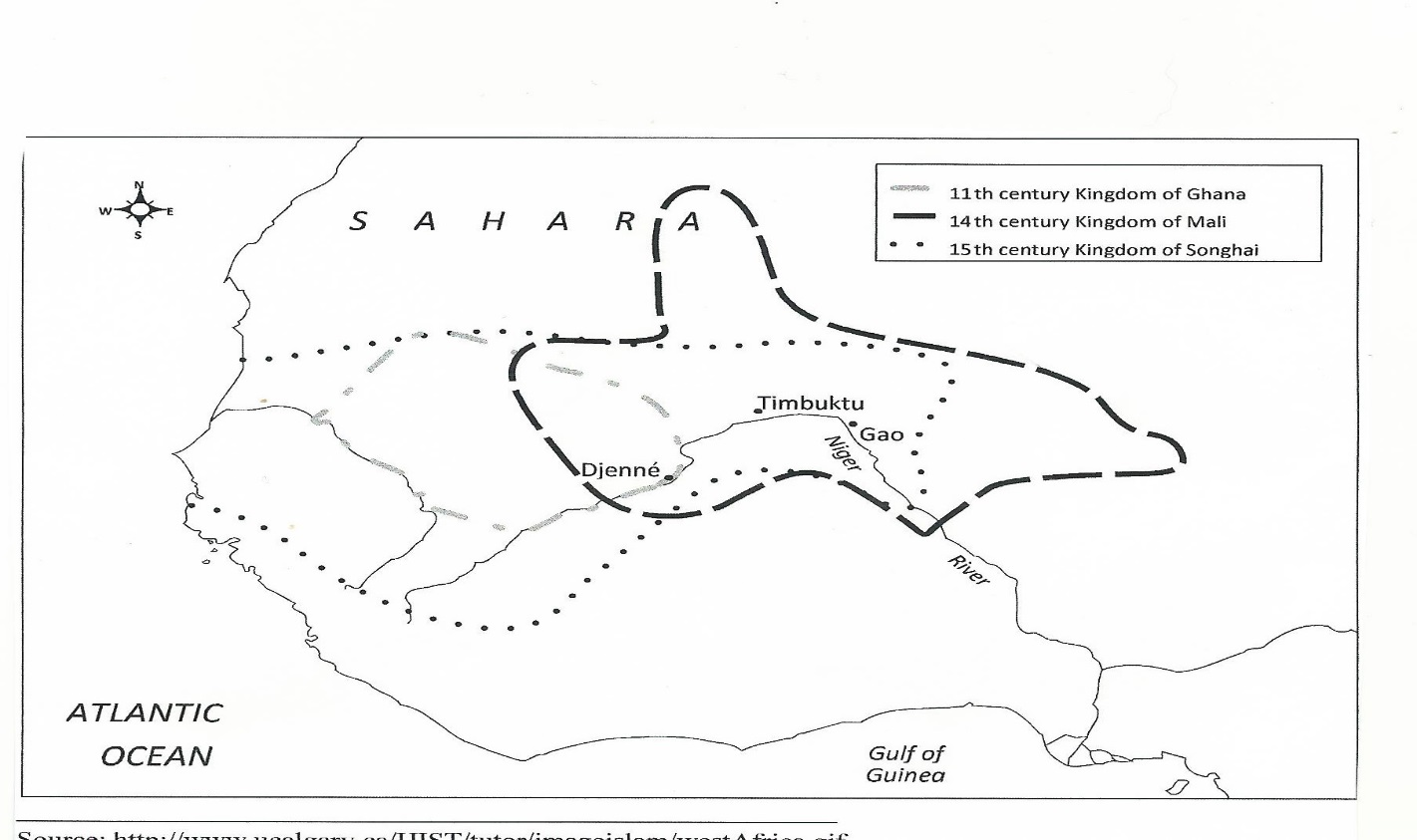 Songhai Africa Map.Chapter 13 Essay Interpreting Political Maps Ghana Mali And Songhai