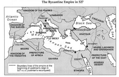 justinian and the byzantine empire essay The byzantine empire during the reign of justinian i (r 527-565), the empire reached its greatest extent after reconquering much of the historically roman western mediterranean coast, including north africa, italy, and rome itself.