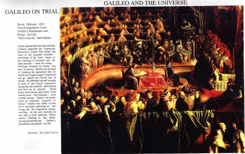 the censorship of roman catholic church on galileo galileis ideas Galileo galilei was put on trial at inquisition headquarters in rome all of the magnificent power of the roman catholic church his ideas were.